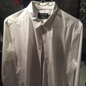 Muscle fit white dress shirt xl